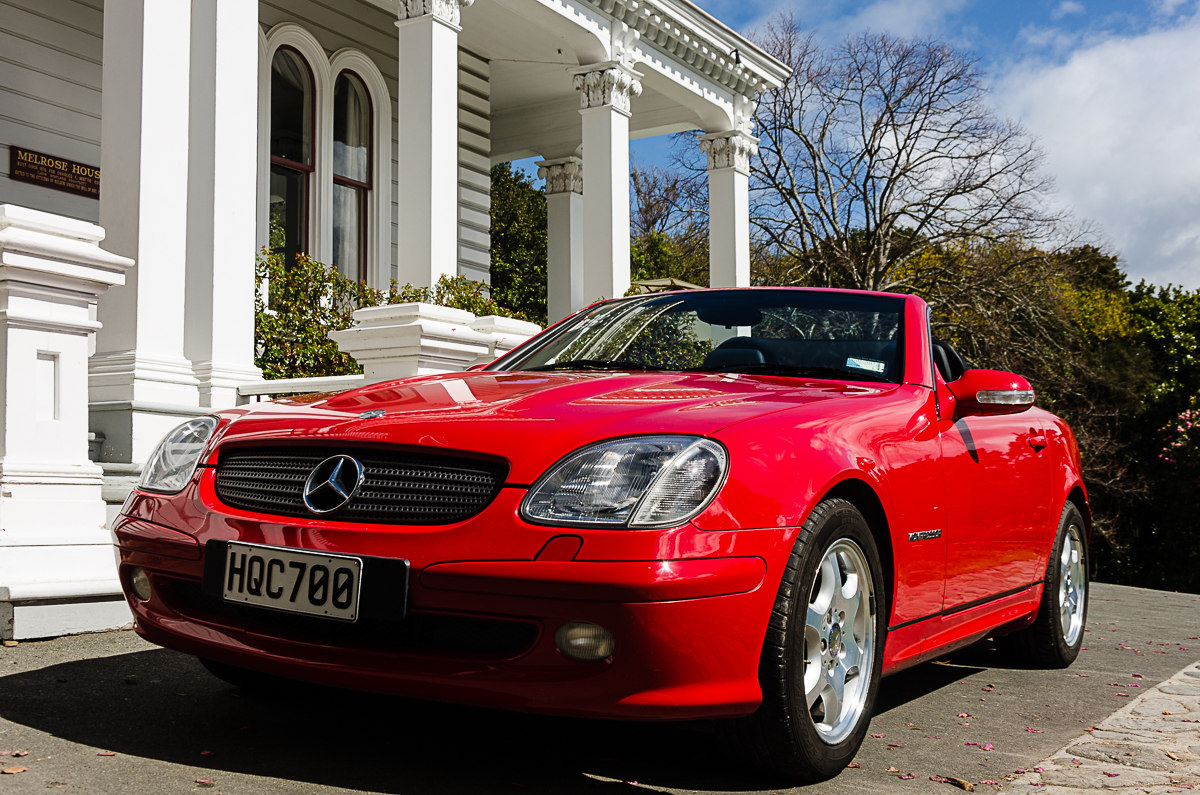 RentAClassic Mercedes SLK At Melrose House 0436